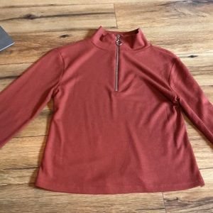 Long sleeve zip up shirt